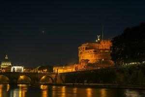 Night scene in Rome
