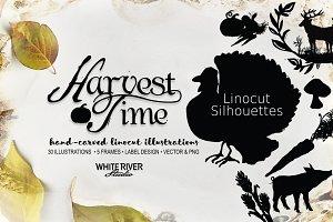 Harvest Time Linocuts