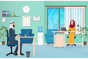 Arab Business People in Office