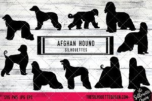 Afghan Hound Dog Silhouette Vector