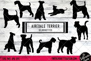 Airedale Terrier Dog Silhouette