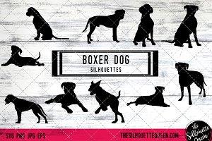 Boxer Dog Dog Silhouette Vector