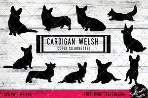 Cardigan Welsh Corgi Dog Silhouette