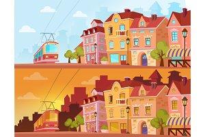 Sunny & sunset historical city