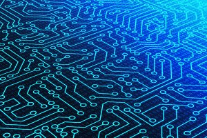 Blue circuit board pattern texture a