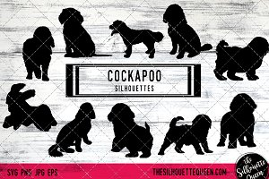 Cockapoo Dog Silhouette Vector