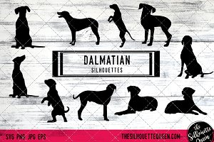 Dalmatian Dog Silhouette Vector