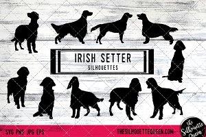 Irish Setter Dog Silhouette Vector