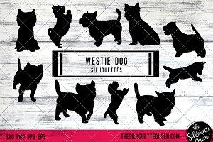 Westie  Dog Silhouette Vector