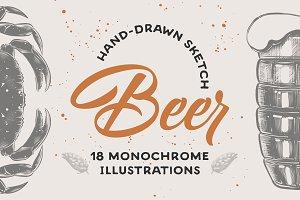 Beer menu sketches collection