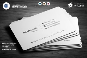 Simple Individual Business Cards