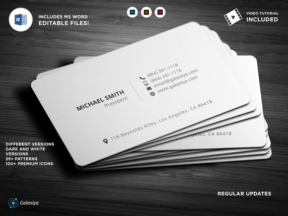 Simple business cards ms word business card templates creative simple business cards ms word business cards friedricerecipe Choice Image