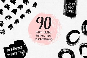 90 shapes, frames and patterns