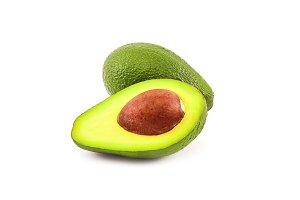 Fresh green avocado isolated