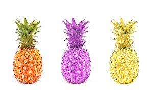 Fresh three pineapple
