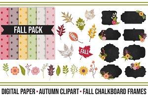 Fall Chalkboard Super Pack Digitals