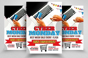 Cyber Monday Flyer Template Vol-01