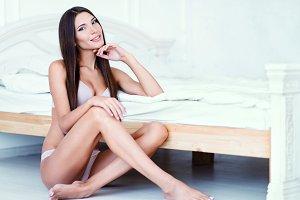 Attractive sexy woman in underwear