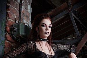 Gorgeous goth (deathrock) girl