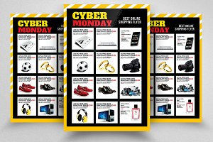 Cyber Monday Flyer Template Vol-04