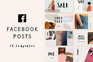 Minimal Facebook post templates