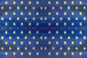 Vintage Stars Motif Seamless Pattern