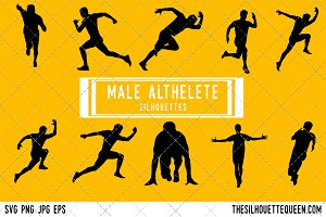 Man runner silhouette, Male athletic