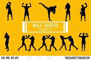Man Boxing silhouette