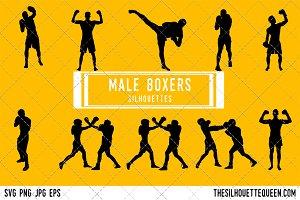 Man Boxing silhouette