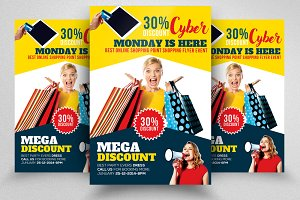 Cyber Monday Flyer Template Vol-07