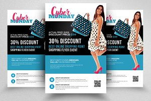 Cyber Monday Flyer Template Vol-08
