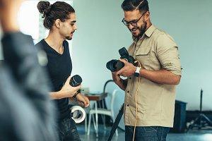 Lens change during photo shoot