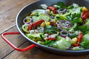 Vegetable stir fry. Healthy food