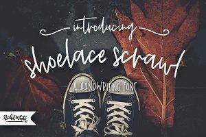 Shoelace Scrawl, a handwriting font