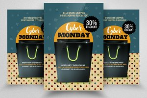 Cyber Monday Flyer Template Vol-10