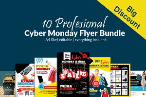 10 Cyber Monday Flyers Bundle