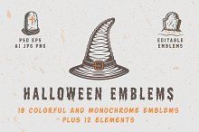 Vintage Halloween Emblems Part 1 by  in Logos