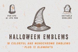 Vintage Halloween Emblems Part 1