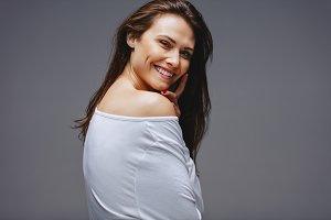 Attractive woman posing