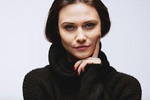 Beautiful woman wearing black