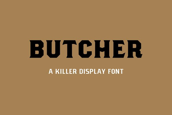 Display Fonts - Butcher