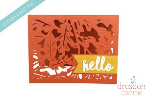 Cuttable Hello Fall Card