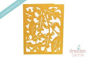 Cuttable Leaf Background Card
