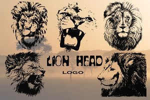 Lion head | hand drawn | vector