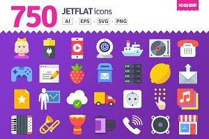 750 JetFlat icons