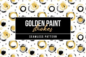 Golden Paint Strokes Pattern