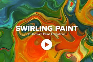 Swirling Paint—15 Vibrant Animations