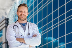 Handsome Male Doctor and Stethoscope