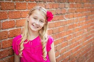 Cute Little Caucasian Girl Portrait