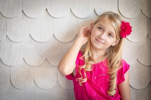Cute Young Caucasian Girl Portrait